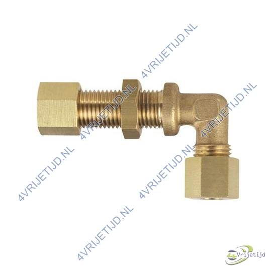 Gimeg schotdoorvoer haaks messing 6/8