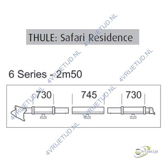 Thule Omnistor clamping profile 6 series 2,50 left