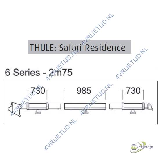 Thule safari residence clamping profile 2,75 left 6 serie